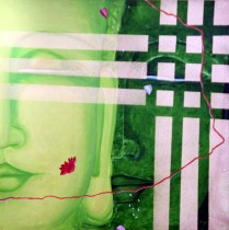 B. Jaya Lakshmi Buddha 30x30 Inch Acrylic on Canvas