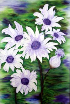 Deepti Rao Blossoming 24x36 Inch Oil on Canvas