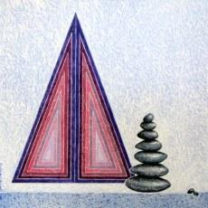 Gitanjali Kashap Untitled 24x24 Inch Acrylic on Canvas