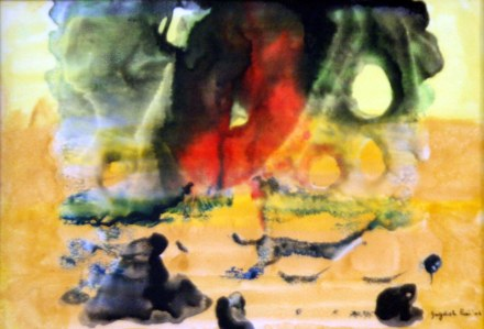 Jagdish Puri Untitled 15x18 Inch Water Color on Paper