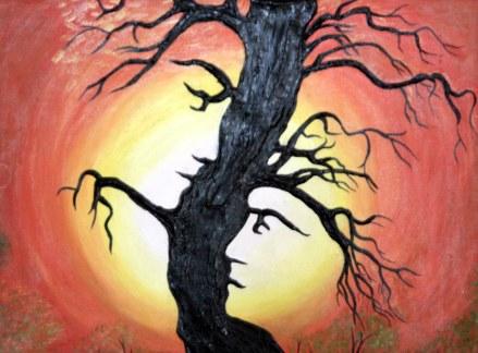 Kavita Kataria Love in Nature 18x24 Inch Mixed Media