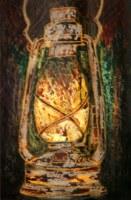 Krishan Lantern 11x16 Inch Mixed Media on Paper