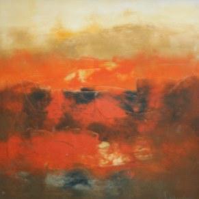 Mukesh Kumar Fantasy Landscape 30x30 Acrylic on Canvas