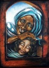 Sandhya Sangeeta Chand Reverie 21x30 Inch Oil on Canvas
