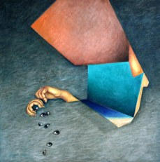 Sangeeta Singh Untitled 34x34 Inch Oil on Canvas