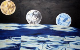 Sudhir Tripurari Earth Rising 24x36 Inch Oil on Canvas