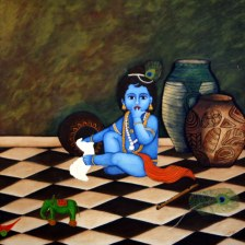 Supriya Singh Maduram Madhaya 36x36 Inch Oil on Canvas