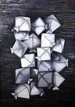 Surekha Sadana Threads of Happiness 24x36 Inch Oil on Canvas