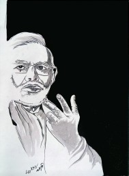 1) Aman Chakra I Modi jee I Acrylic on Canvas I 18x29 Inches