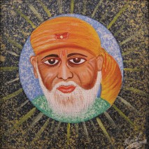 12) Kamal Sharma I Sai Baba I Acrylic on Canvas I 12x12 Inches