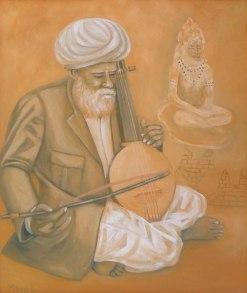 14) Mahesh Dalal I Aradhana I Oil on Canvas I 20x24 Inches