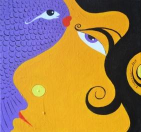 16) Naresh Verma I Untitled I Acrylic on Canvas I 10x10 Inches