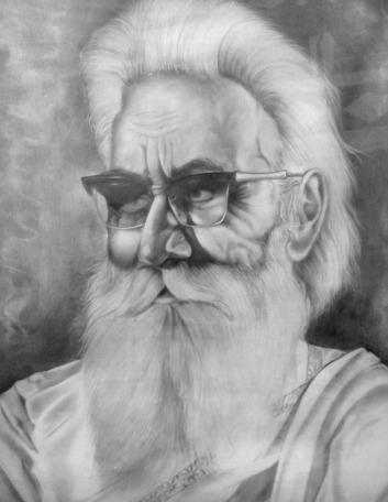 18) Om Prakash Chawla I Soba Singh I Pencil on Paper I 31x24 Inches