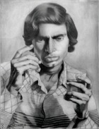 19) Om Prakash Chawla I Self Portrait I Pencil on Paper I 21x16 Inches
