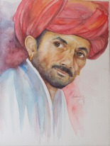 25) Radhika Surana I Curiosity I Water Color on Paper I 30x22 Inches
