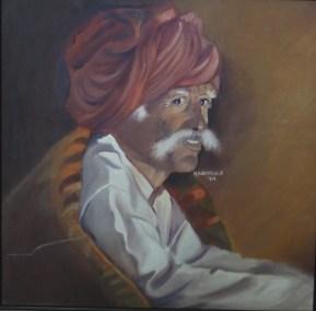 26) Radhika Surana I In The Darkness I Oil on Canvas I 30x24 Inches