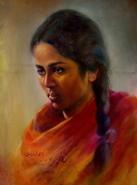 32) Shakti Singh I Portrait 1 I Oil on Canvas I 24x18 Inches