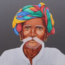35) Swati Phatak I Ageless Happiness I Acrylic on Canvas I 24x24 Inches