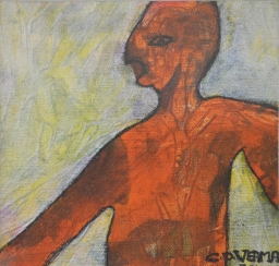 5) Chanderpal Verma I Alien I Acrylic on Canvas I 15x12 Inches