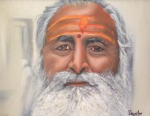 6) Deepali Jain I Baba ji I Oil on Canvas I 21x27 Inches