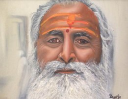 6) Deepali Jain I Baba ji I Oil on Canvas I 21x27 Inches