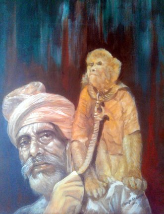 8) Girija Shanker I Madaree I Oil on Canvas I 18x24 Inches