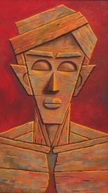 9) Gopal Krishna Mallick I Man I Oil on Canvas I 54x30 Inches