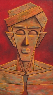 9) Gopal Krishna Mallick I Man I Oil on Canvas I 54x30 Inches