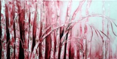 Amita Bamboos Series Acrylic on Canvas 36 x 72 Inches 50K