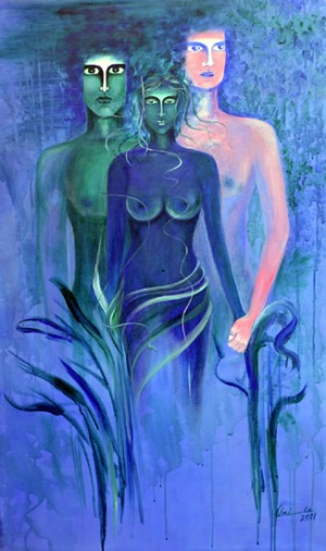 Amita Gupta Beyond Marriage Acrylic On Canvas 30x48 Inch