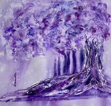 Amita Tree Series -1 Acrylic on Canvas 12 x 12 Inches 4K