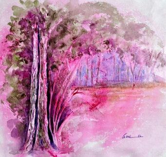 Amita Tree Series -2 Acrylic on Canvas 12 x 12 Inches 4K