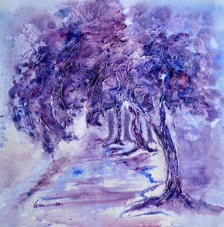 Amita Tree Series -4 Acrylic on Canvas 12 x 12 Inches 4K