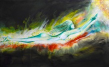 Amita Woman Series Towards Light Acrylic on Canvas 30 x 48 Inches 40K