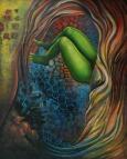 Balwinder Tanwar Illusion 36x48 Mixed Media on Canvas 2009 80K