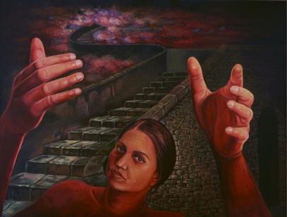 Balwinder Tanwar Mortal to Immortal 30x40 Acrylic on Canvas 2011 60K