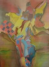 Charu Goel Emerging Alien Natural Colours on Silk