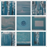 Charu Goel Water Jal Acrylic on Canvas 18 x 18 Inches Set of 9