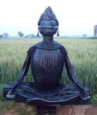 Harminder Singh Boparia Budha Metal Scraap 41 x 34 Inches 2013