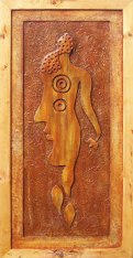 Harminder Singh Boparia Budha Wood and Resin 47 x 23 Inches 2013