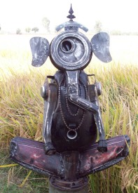 Harminder Singh Boparia Ganesh Metal Scrap 31 x 46 Inches 2012