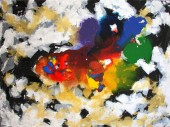 Kishore Shanker Dissolving Rainbow II Acrylic on Canvas 36 x 48 Inches 50K
