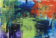 Kishore Shanker Untitled-1 Acrylic on Paper 5x7 Inches