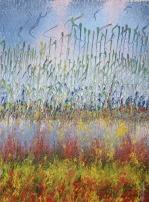 Mahmood Ahmad Landscape-1 Acrylic on Canvas 22 x 17 Inch