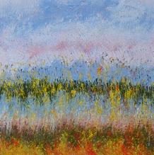 Mahmood Ahmad Landscape-10 Acrylic on Canvas 24 x 24 Inch