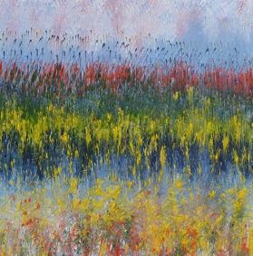 Mahmood Ahmad Landscape-11 Acrylic on Canvas 24 x 24 Inch