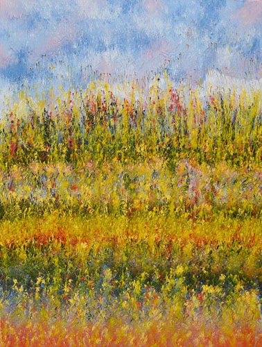 Mahmood Ahmad Landscape-12 Acrylic on Canvas 48 x 36 Inch