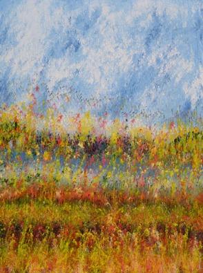 Mahmood Ahmad Landscape-14 Acrylic on Canvas 48 x 36 Inch