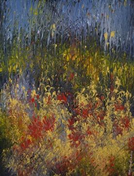 Mahmood Ahmad Landscape-2 Acrylic on Canvas 22 x 17 Inch