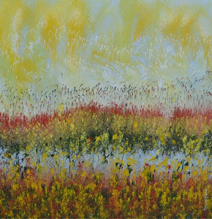 Mahmood Ahmad Landscape-4 Acrylic on Canvas 24 x 24 Inch